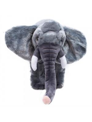 Elefante Cinza Realista 22cm - Pelúcia Enfeite
