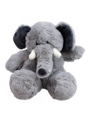 Elefante Cinza Sentado 20cm - Pelúcia