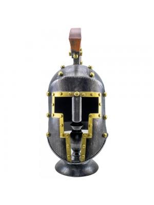 Enfeite Capacete Romano Prateado 51x32x33cm