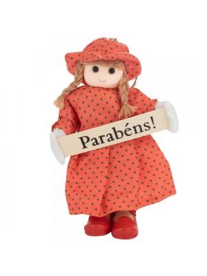 Boneca Placa Parabéns 16cm