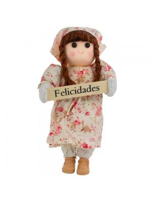 Boneca Placa Felicidades 24cm
