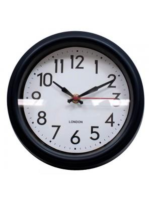 Relógio Parede Preto 21.5x21.5cm