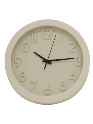 Relógio Parede Branco 25.5x25.5cm